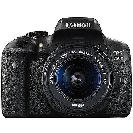 【領券再折】Canon EOS 750D 18-55mm STM 單鏡組(公司貨)-送64G 90MB/s記憶卡+副廠電池+副廠座充+快門線+遙控器+保護鏡+相機包+保護貼