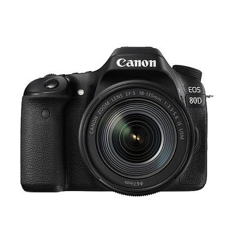Canon EOS 80D 18-135mm IS USM 新旅遊鏡組(公司貨)-送大清潔組+保護貼+32G記憶卡