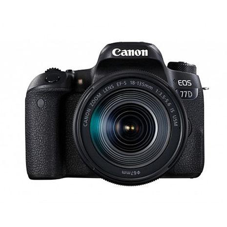 Canon EOS 77D+18-135 IS USM 單鏡組(公司貨)-送64G 90MBs記憶卡+專屬遮光罩+保護鏡+快門線+遙控器+相機包+吹球清潔組