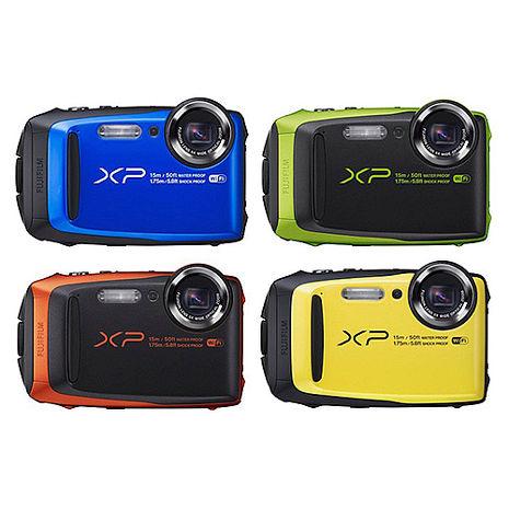 FUJIFILM FinePix XP90 防水相機公司貨-送飄浮手腕帶+清潔組+保護貼藍
