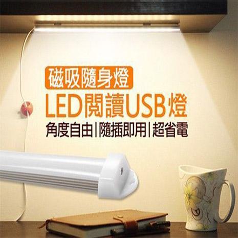 【APP限定】好眼光USB壁掛磁吸兩用LED隨身閱讀燈自然光