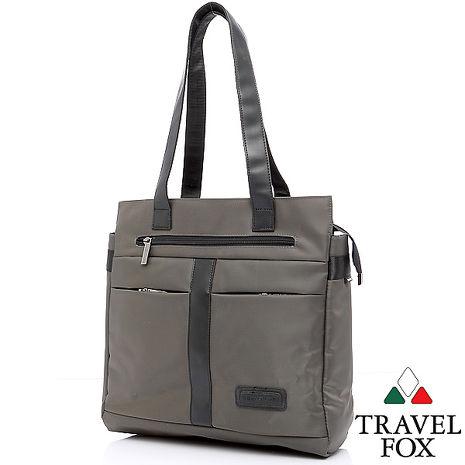 Travel Fox 旅狐簡約機能托特包(iPad可入)(灰)(TB653-13)【預購】