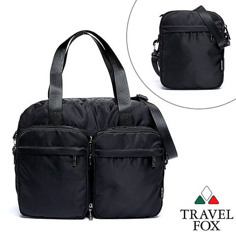 Travel Fox 旅狐百變系列側背/托特包(黑)(TB686-01)【預購】