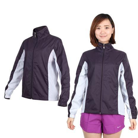 【SOFO】女風衣外套-防風 慢跑 路跑 立領 深葡萄紫粉紫L