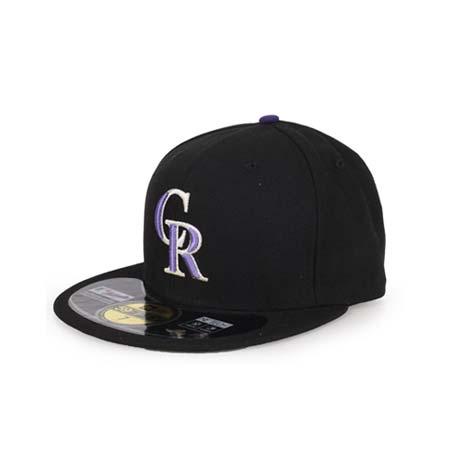 【MLB】NEW ERA 落磯山隊帽-AC- 主場正式球員帽 59FIFTY 黑紫