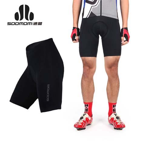 【SOOMOM】男貝諾短車褲 II-單車 自行車 速盟 黑銀