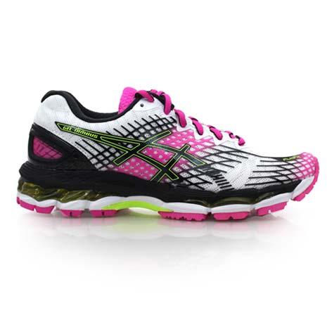 【ASICS】GEL-NIMBUS 17 女慢跑鞋- 路跑 健走 亞瑟士 白黑桃紅