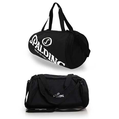 【SPALDING】二顆裝休閒兩用袋-側背包 籃球 肩背包 黑白F