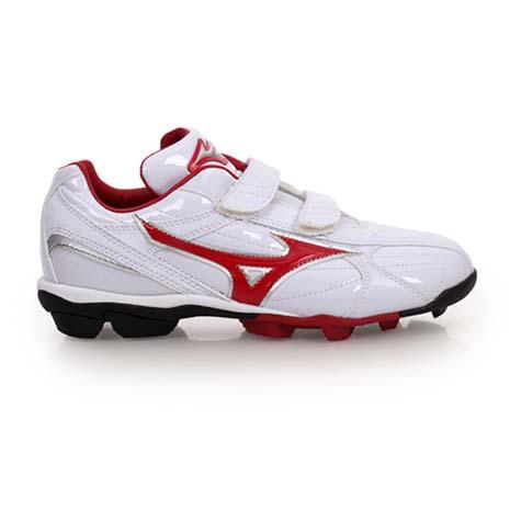 【MIZUNO】FRANCHISE F EDITION JR男女童棒壘球鞋 白紅22