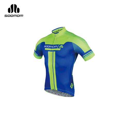 【SOOMOM】速盟 男佐羅短車衣-單車 自行車 螢光綠寶藍