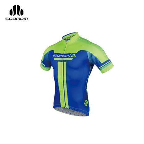 【SOOMOM】速盟 男佐羅短車衣-單車 自行車 螢光綠寶藍3XL