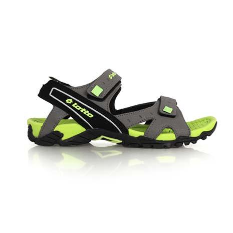 【LOTTO】男運動涼鞋-休閒涼鞋 魔鬼氈 排水 灰綠