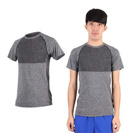【NEWBALANCE】男短袖T恤-慢跑 路跑 休閒 運動 上衣 NB 深灰M