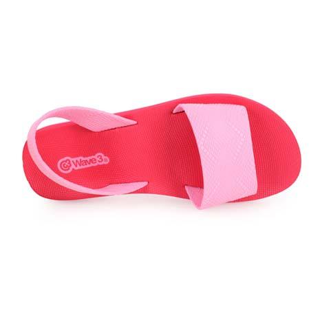 【WAVE3】女瑜珈墊涼鞋-拖鞋 台灣製 紅粉紅XL