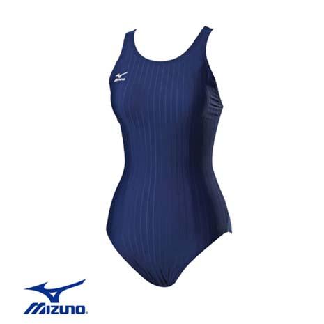 【MIZUNO】SWIM FITNESS 女泳衣 - 游泳 競賽 美津濃 丈青藍