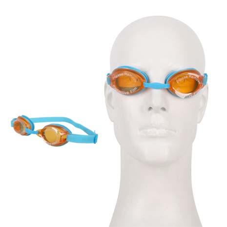【SPEEDO】JET男女童泳鏡-游泳 戲水 蛙鏡 抗UV 防霧鏡片 藍橘F