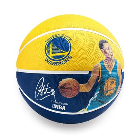 【SPALDING】勇士-柯瑞 STEPHEN CURRY #7籃球-斯伯丁 藍黃