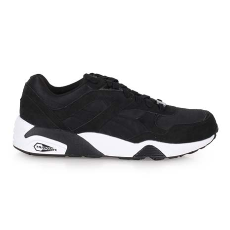 【PUMA】R698 男復古慢跑鞋- 路跑 黑白
