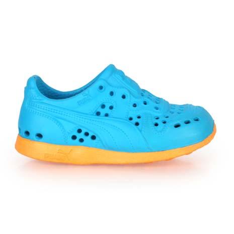 【PUMA】RS 200 INJEX V 男女兒童運動排水拖鞋-護指 水藍橘