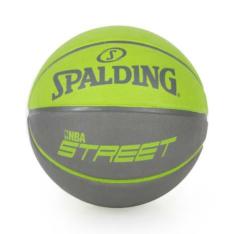 【SPALDING】STREET 雙色籃球-戶外 7號球 街頭 綠灰