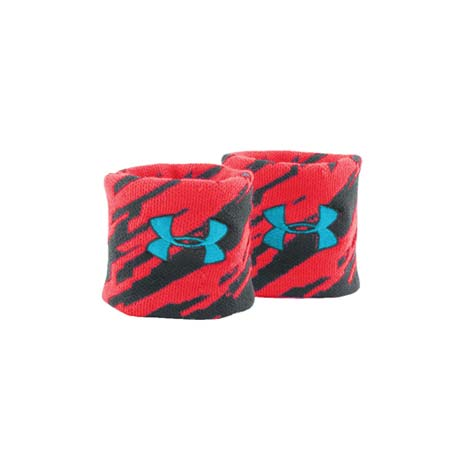 【UNDER ARMOUR】UA  JACQUARD護腕-籃球 羽球 紅黑