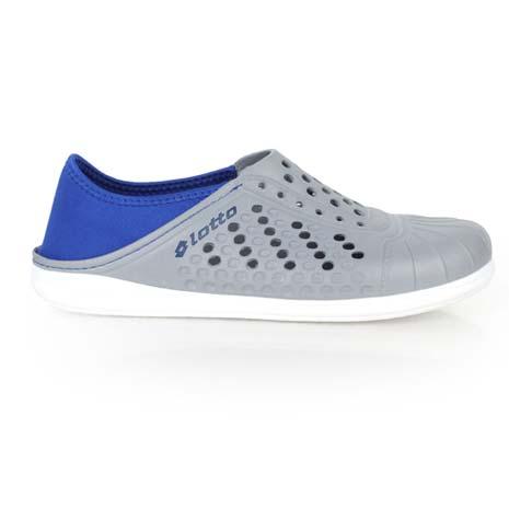 【LOTTO】男女洞洞排水拖鞋-懶人鞋 沙灘鞋 灰藍