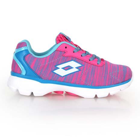 【LOTTO】女飛織輕量跑鞋-路跑 慢跑 水藍桃紅-戶外.婦幼.食品保健-myfone購物
