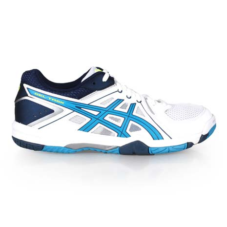 【ASICS】GEL-TASK 男排球鞋-羽球鞋 運動 戶外 亞瑟士 白黃湖水藍27.5