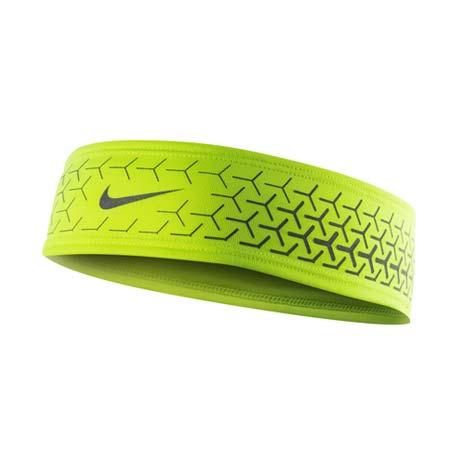 【NIKE】DRI-FIT 360反光頭帶 2.0-慢跑 路跑 瑜珈 螢光黃銀F