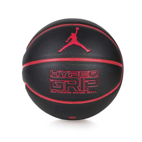 【NIKE】JORDAN HYPER GRIP 戶外籃球- 七號籃球 黑紅