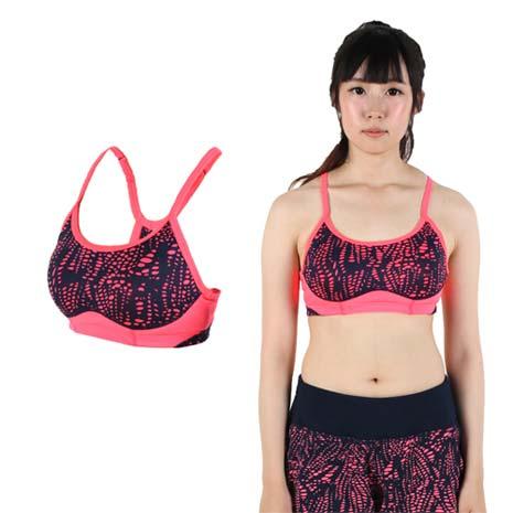 【NEWBALANCE】女短BRA-NB 運動內衣 運動背心 粉橘丈青XL
