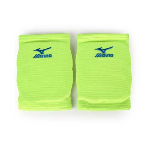 【MIZUNO】運動用排球護膝 -成人用護膝 防撞護膝 美津濃 螢光綠藍M