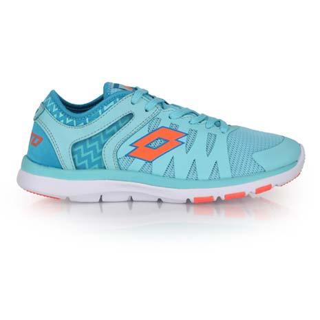 【LOTTO】女慢跑訓練鞋 -路跑 健身 水藍橘