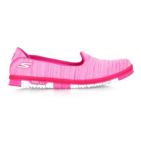 【SKECHERS】GO MINI FLEX 女休閒健走鞋- 輕量 懶人鞋 粉紅銀
