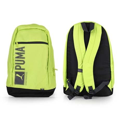 【PUMA】PIONEER後背包-雙肩包 肩背包 18吋筆電 芥末綠灰
