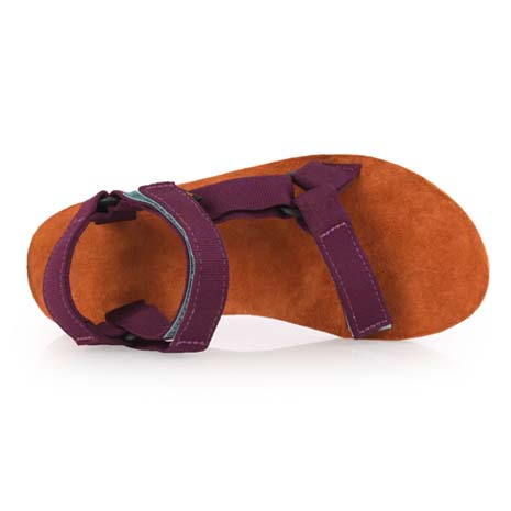 【TEVA】女織帶涼鞋 - 拖鞋 海灘 戲水 游泳 咖啡紅24