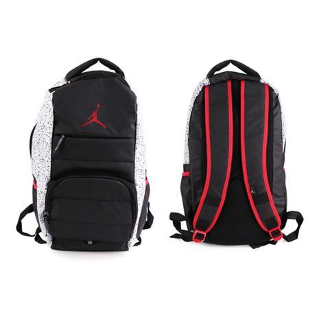 【NIKE】JORDAN ALL WORLD後背包- 雙肩包 喬丹 18吋筆電 黑灰紅
