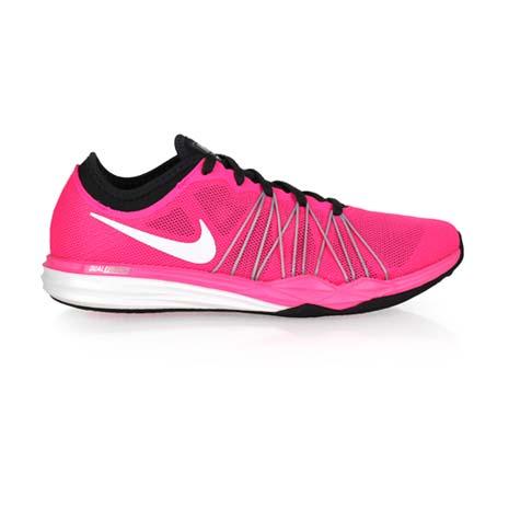 【NIKE】WMNS DUAL FUSION TR HIT 女訓練鞋-慢跑 健身 粉白