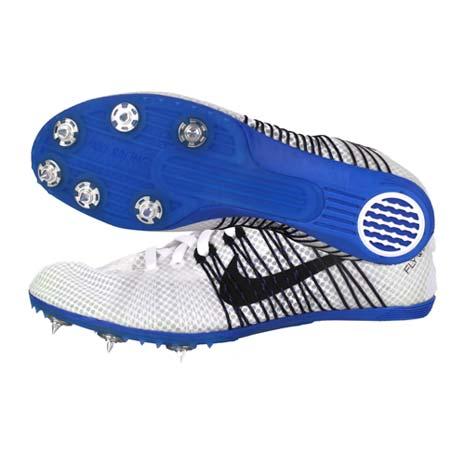 【NIKE】ZOOM VICTORY 2 男女田徑釘鞋 - 中距離 白黑藍24.5