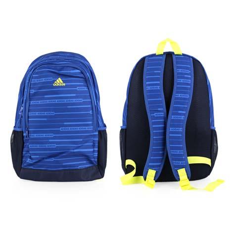 【ADIDAS】運動後背包 -雙肩包 登山 旅行包 愛迪達 藍芥末綠