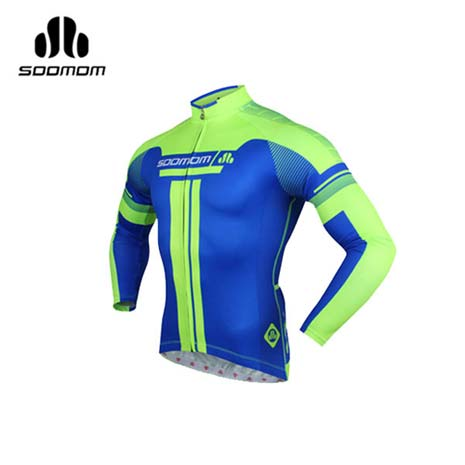 【SOOMOM】速盟 男佐羅長車衣 -自行車 單車 螢光綠藍L