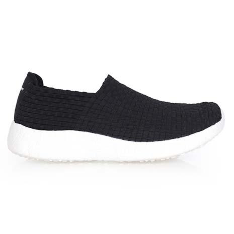 【SKECHERS】BURST-REVIVAL 男休閒鞋- 懶人鞋 走路鞋 黑白27.5
