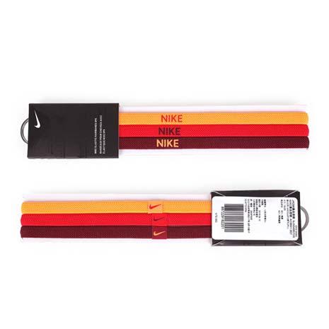 【NIKE】3條入運動頭帶-髮帶 慢跑 路跑 瑜珈 螢光橘紅F