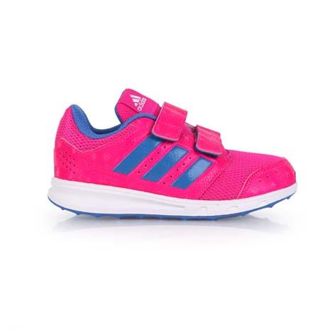 【ADIDAS】LK SPORT 2 女兒童慢跑鞋-運動 休閒 魔鬼氈 愛迪達 桃紅淺紫-戶外.婦幼.食品保健-myfone購物