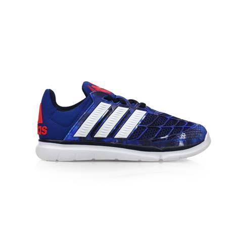 【ADIDAS】MARVEL SPIDER-MAN 男女兒童跑鞋-運動 愛迪達 藍白紅