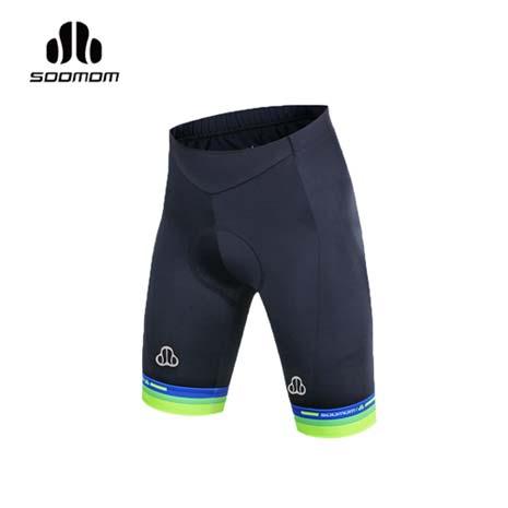 【SOOMOM】男佐羅短車褲-單車 自行車 速盟 黑藍螢光綠