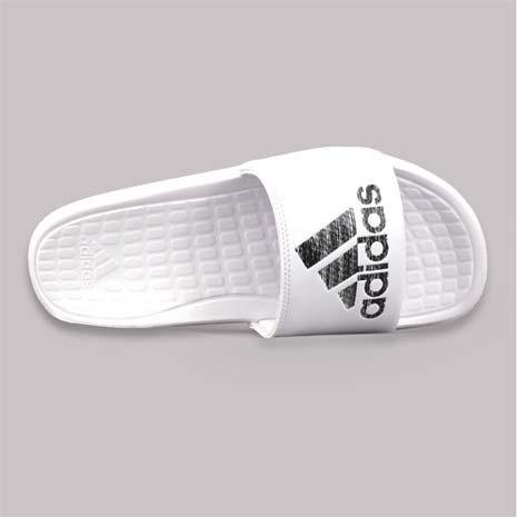 【ADIDAS】男運動拖鞋-游泳 海邊 海灘 休閒 愛迪達 白黑