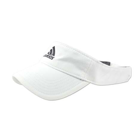 【ADIDAS】中空帽子-慢跑 路跑 高爾夫 網球 遮陽 愛迪達 白黑