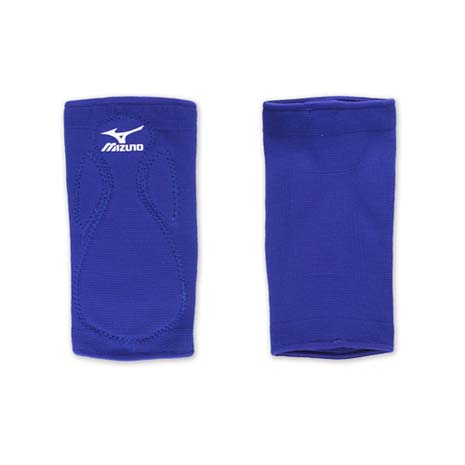 【MIZUNO】排球防撞運動護膝-巧固球 手球 一只入 美津濃 藍白
