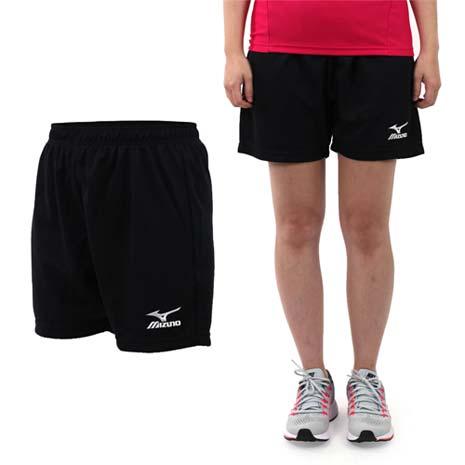 【MIZUNO】女排球褲-慢跑 美津濃 黑